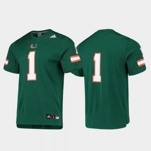 Green Miami Jersey Replica College Football #1 For Men