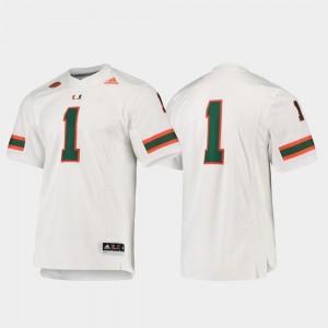 White Miami Jersey Mens #1 Football Adidas Premier