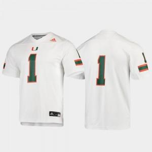 Miami Jersey #1 Men's Football Replica White