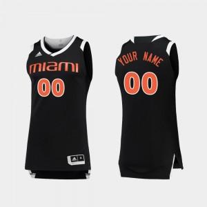 Black White Men #00 Miami Custom Jerseys Chase College Basketball