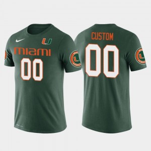 #00 Future Stars Green For Men Hurricanes Customized T-Shirt Cotton Football