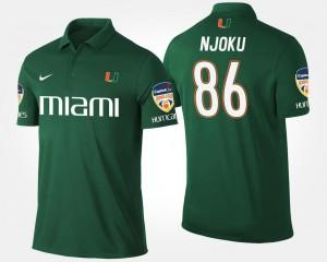 David Njoku Miami Polo Orange Bowl Name and Number Green Bowl Game #86 Mens