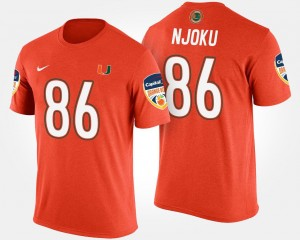 Bowl David Njoku Miami T-Shirt Bowl Game Orange #86 Men