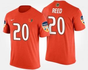Orange Bowl Game #20 Ed Reed Miami T-Shirt Bowl Mens