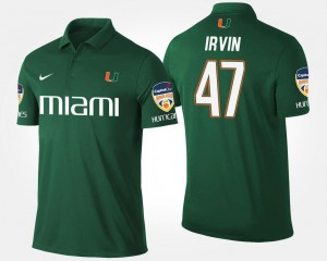 Orange Bowl Name and Number Bowl Game Michael Irvin Miami Polo Green Mens #47
