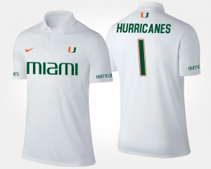 Hurricanes Polo #1 No.1 Short Sleeve Mens Name and Number White