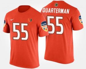Bowl Game #55 Men Orange Bowl Shaquille Quarterman Miami Hurricanes T-Shirt