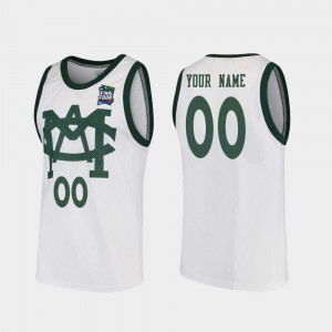 #00 2019 Final-Four For Men Michigan State Spartans Customized Jerseys White Vault MAC Replica