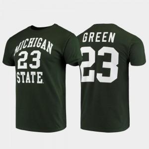 Men's #23 Draymond Green Michigan State T-Shirt Original Retro Brand College Alumni Basketball Green College Basketball