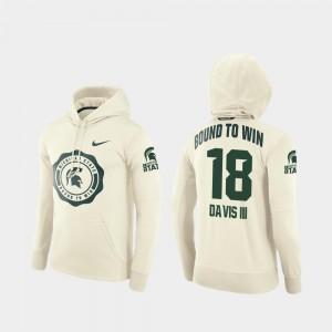 Cream For Men Rival Therma Felton Davis III Spartans Hoodie College Football Pullover #18