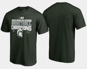 Michigan State T-Shirt Men Basketball Regular Season 2018 Big Ten Champions Green