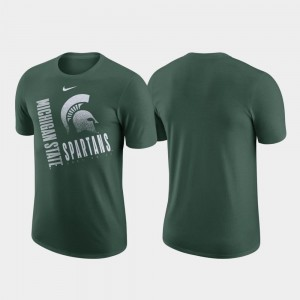 Just Do It Spartans T-Shirt Green Men's Nike Performance Cotton