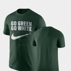 Performance Nike Legend Franchise Michigan State Spartans T-Shirt Men Green