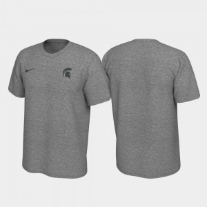 Left Chest Logo Legend For Men Heathered Gray Michigan State T-Shirt