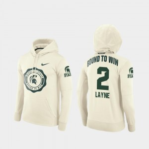 #2 College Football Pullover Rival Therma For Men Justin Layne Michigan State Hoodie Cream