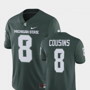 Player Nike Kirk Cousins Michigan State Jersey Green #8 Alumni Football Game For Men