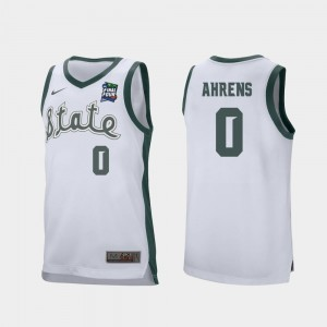 #0 White Retro Performance 2019 Final-Four Mens Kyle Ahrens Michigan State Spartans Jersey