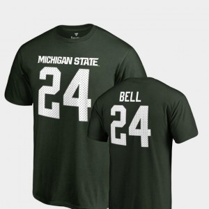Le'Veon Bell Spartans T-Shirt #24 Green College Legends For Men's Name & Number