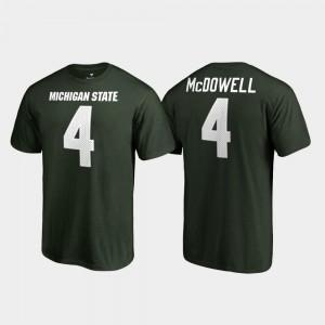 Green For Men #4 Malik McDowell Spartans T-Shirt Name & Number College Legends