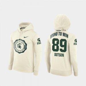 Rival Therma Cream Matt Dotson Michigan State University Hoodie #89 College Football Pullover For Men