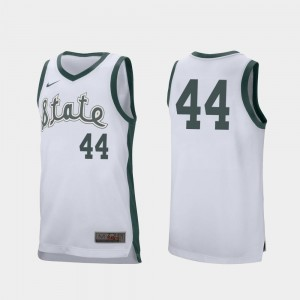 White Men Nick Ward MSU Jersey College Basketball Retro Performance #44