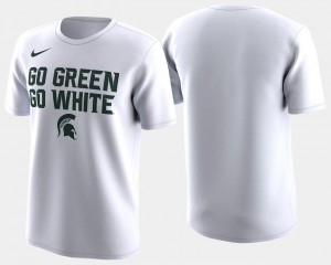 Basketball Tournament For Men 2018 March Madness Bench Legend Performance White Michigan State Spartans T-Shirt