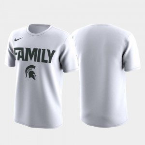 MSU T-Shirt Family on Court Mens March Madness Legend Basketball Performance White