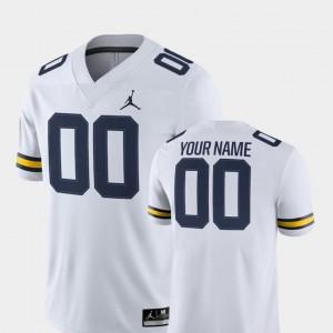 #00 2018 Game Jordan Brand White Men Michigan Customized Jerseys College Football