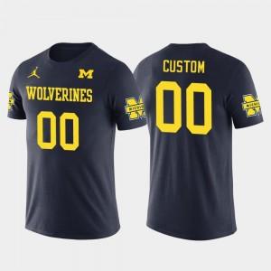 #00 Navy Cotton Football University of Michigan Customized T-Shirts Future Stars Mens