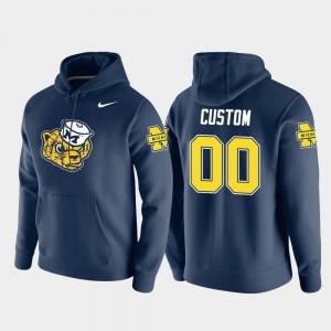 #00 For Men Michigan Custom Hoodie Nike Pullover Vault Logo Club Navy