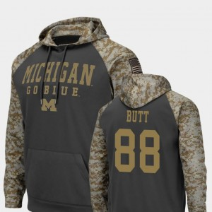United We Stand Colosseum Football Jake Butt Michigan Hoodie #88 Charcoal Men