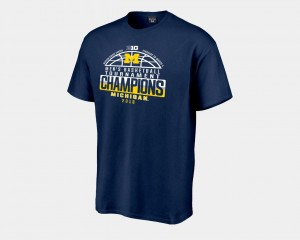Basketball Conference Tournament Navy 2018 Big Ten Champions Locker Room For Men Michigan T-Shirt