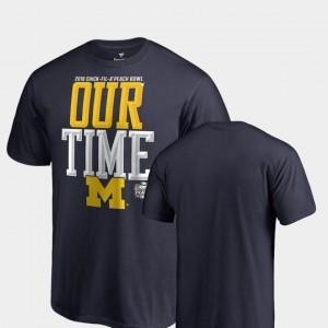 Men's 2018 Peach Bowl Bound Counter Big & Tall Navy Michigan T-Shirt