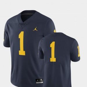 For Men Limited Jordan Brand College Football Michigan Jersey #1 Navy