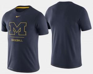 Michigan T-Shirt Navy For Men Dugout Performance College Baseball