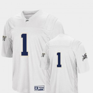 Navy Midshipmen Jersey White College Football #1 For Men Colosseum Authentic