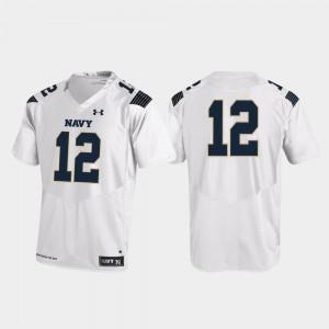 Midshipmen Jersey White #12 College Football Under Armour For Men's Replica
