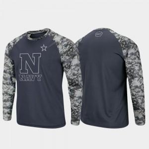 Charcoal Camo Raglan Long Sleeve Digi Camo Mens Midshipmen T-Shirt OHT Military Appreciation