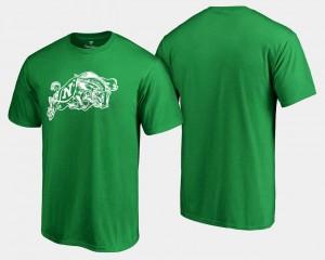 Navy Midshipmen T-Shirt Kelly Green For Men's St. Patrick's Day White Logo Big & Tall