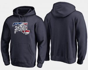 Navy Hoodie Banner State Navy Mens Big & Tall