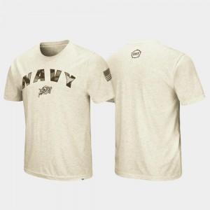 Oatmeal United States Naval Academy T-Shirt Desert Camo OHT Military Appreciation Mens