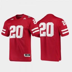 #20 Men's Football Adidas Premier University of Nebraska Jersey Scarlet