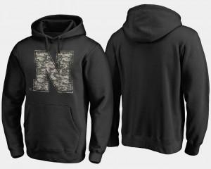 Big & Tall Black University of Nebraska Hoodie Camo Cloak Mens