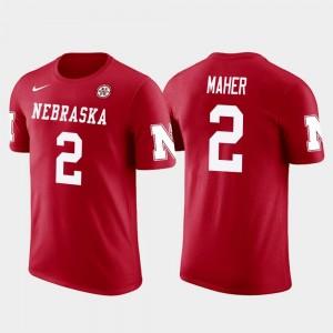 Dallas Cowboys Football Men's Future Stars Brett Maher University of Nebraska T-Shirt #2 Red