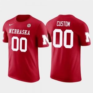 Men University of Nebraska Custom T-Shirt #00 Cotton Football Red Future Stars