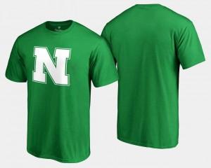 Kelly Green St. Patrick's Day For Men's University of Nebraska T-Shirt White Logo Big & Tall