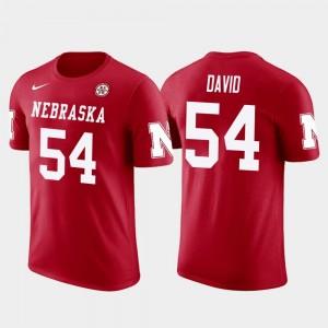 Future Stars Tampa Bay Buccaneers Football Red Lavonte David Nebraska Cornhuskers T-Shirt Men #54