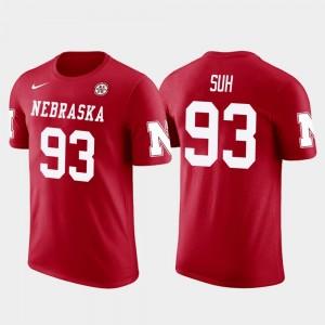 Men Future Stars Ndamukong Suh University of Nebraska T-Shirt Los Angeles Rams Football Red #93