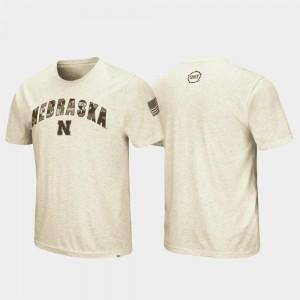 Men's Nebraska T-Shirt OHT Military Appreciation Desert Camo Oatmeal
