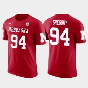 #94 Randy Gregory Cornhuskers T-Shirt Men Future Stars Red Dallas Cowboys Football